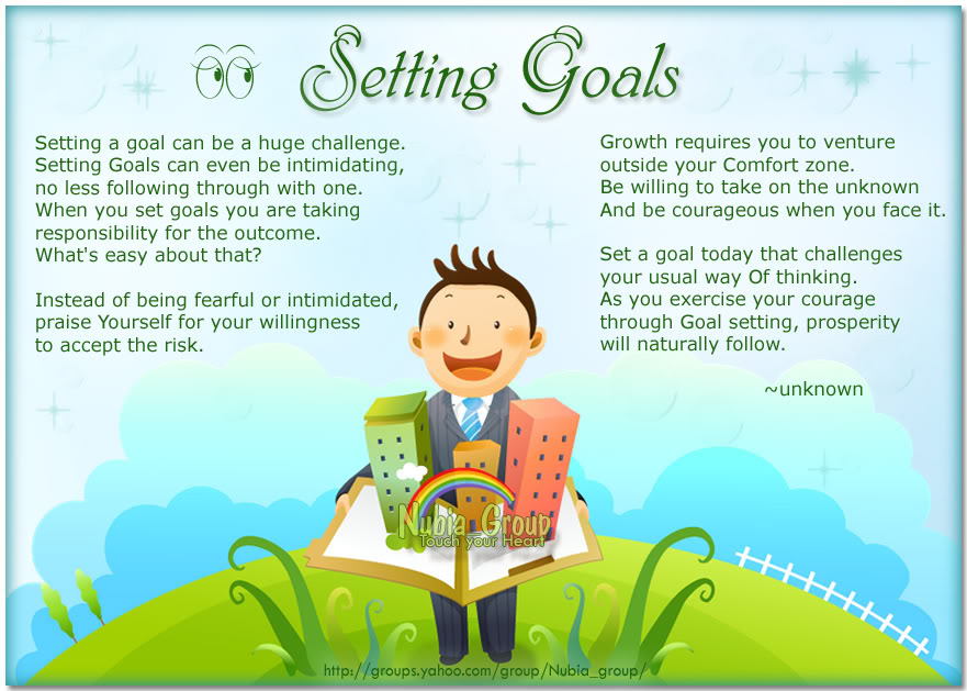 Setting Goals blue