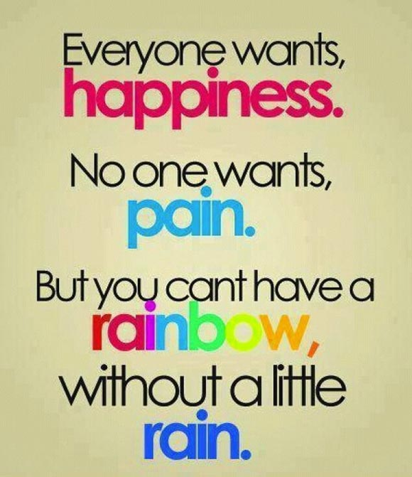 How do you interpret this? what does the rainbow stand for? The rain?