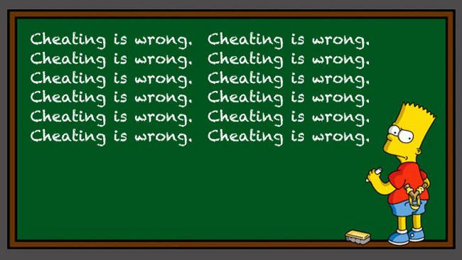 cheating wrong