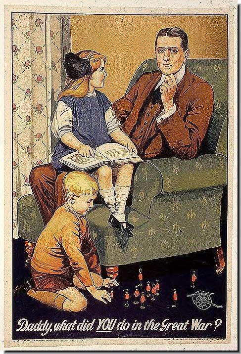 bRITISH-WW1-PROPAGANDA-POSTERS-Daddy-what-did-you-great-war